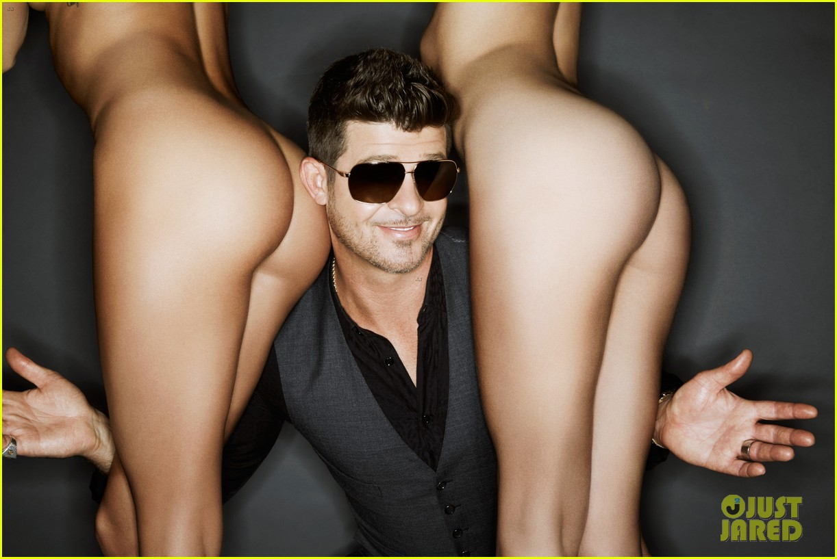 robin thicke covers treats magazine with nude women 042948359