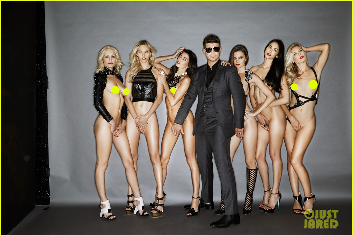 robin thicke covers treats magazine with nude women 062948361