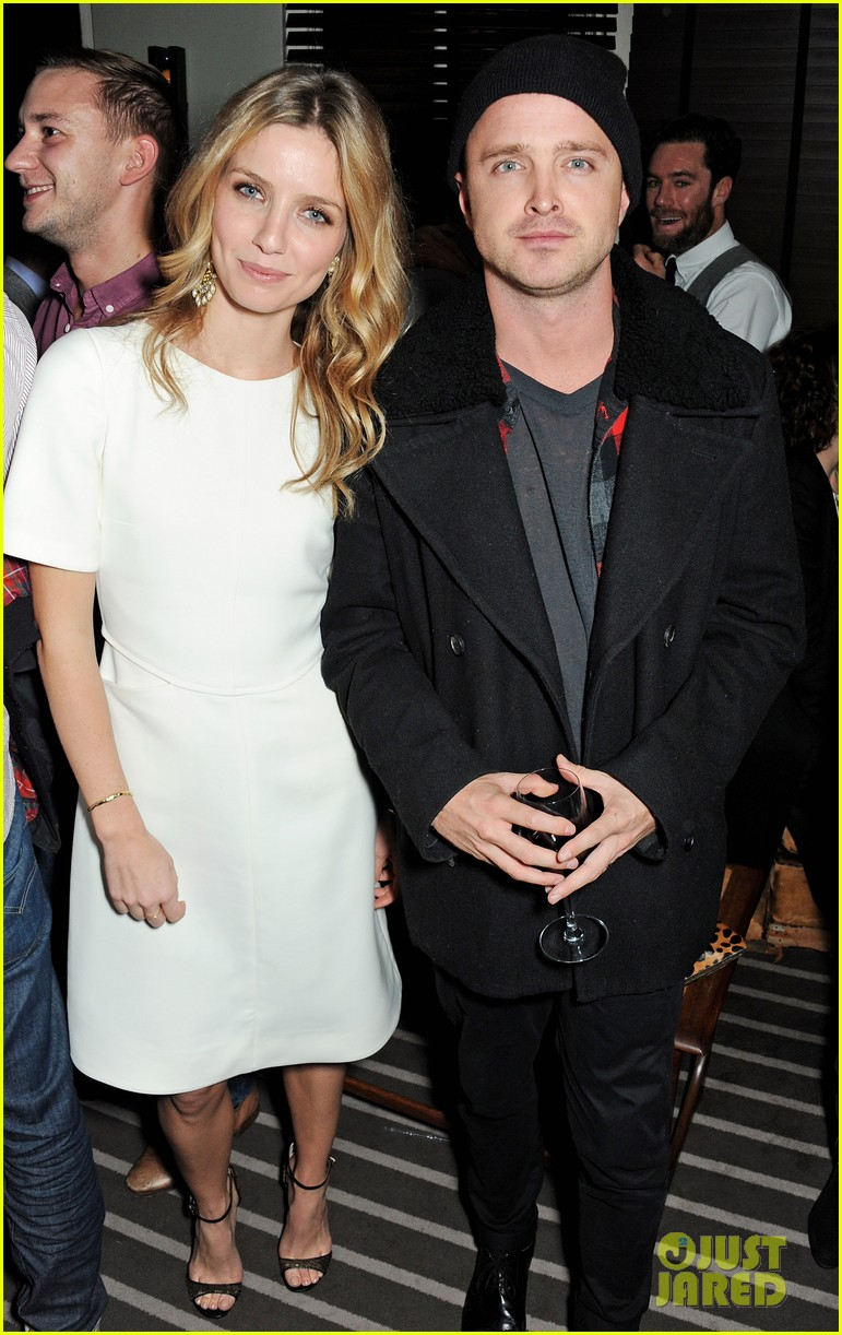 aaron paul annabelle wallis hello carter post screening party 042971071