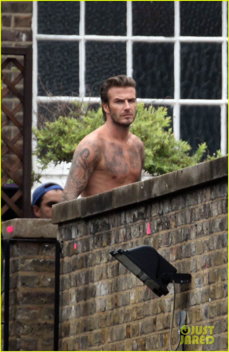 david beckham shows underwear shirtless body flies through air for hm 04