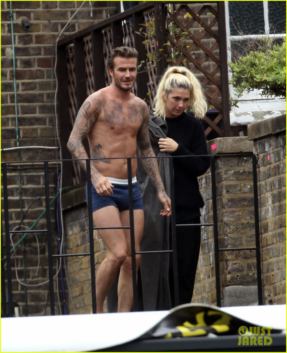 david beckham shows underwear shirtless body flies through air for hm 052964514