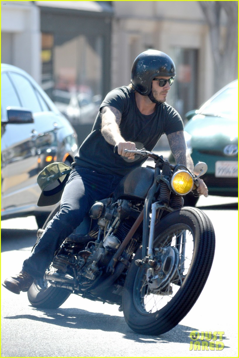 david beckham rides motorcycle in los angeles all week 11