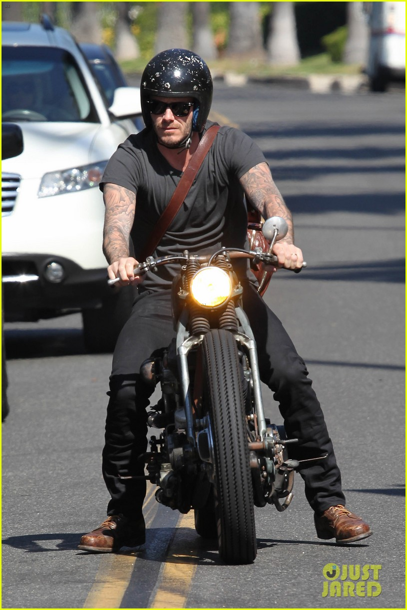 david beckham rides motorcycle in los angeles all week 192975319