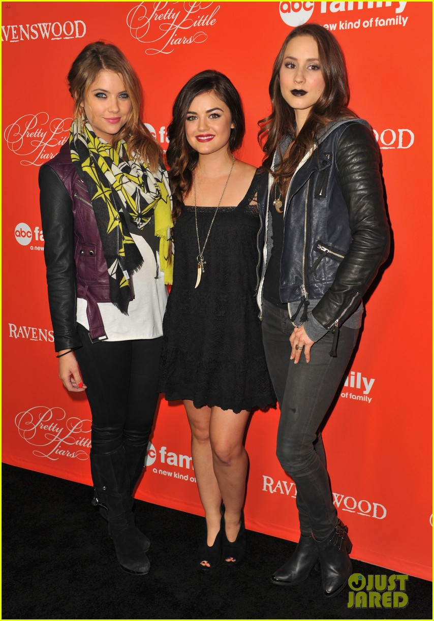 ashley benson lucy hale pretty little liars halloween screening 24