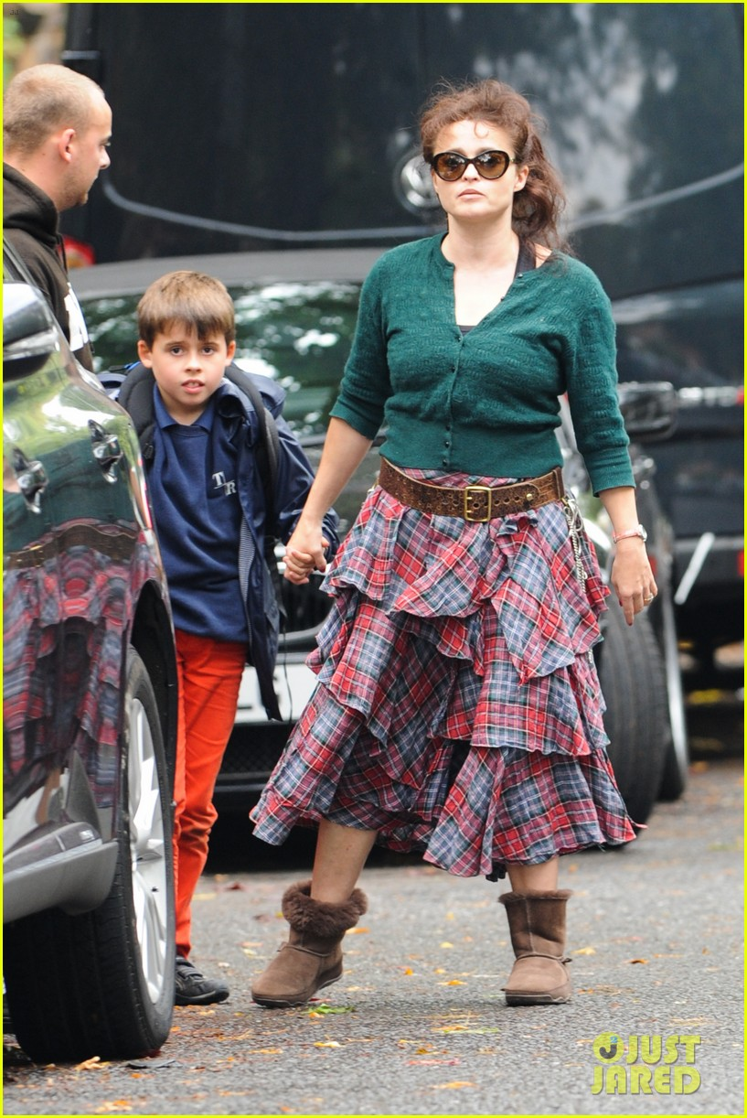 helena bonham carter steps out after tim burton cheating rumors 072965934