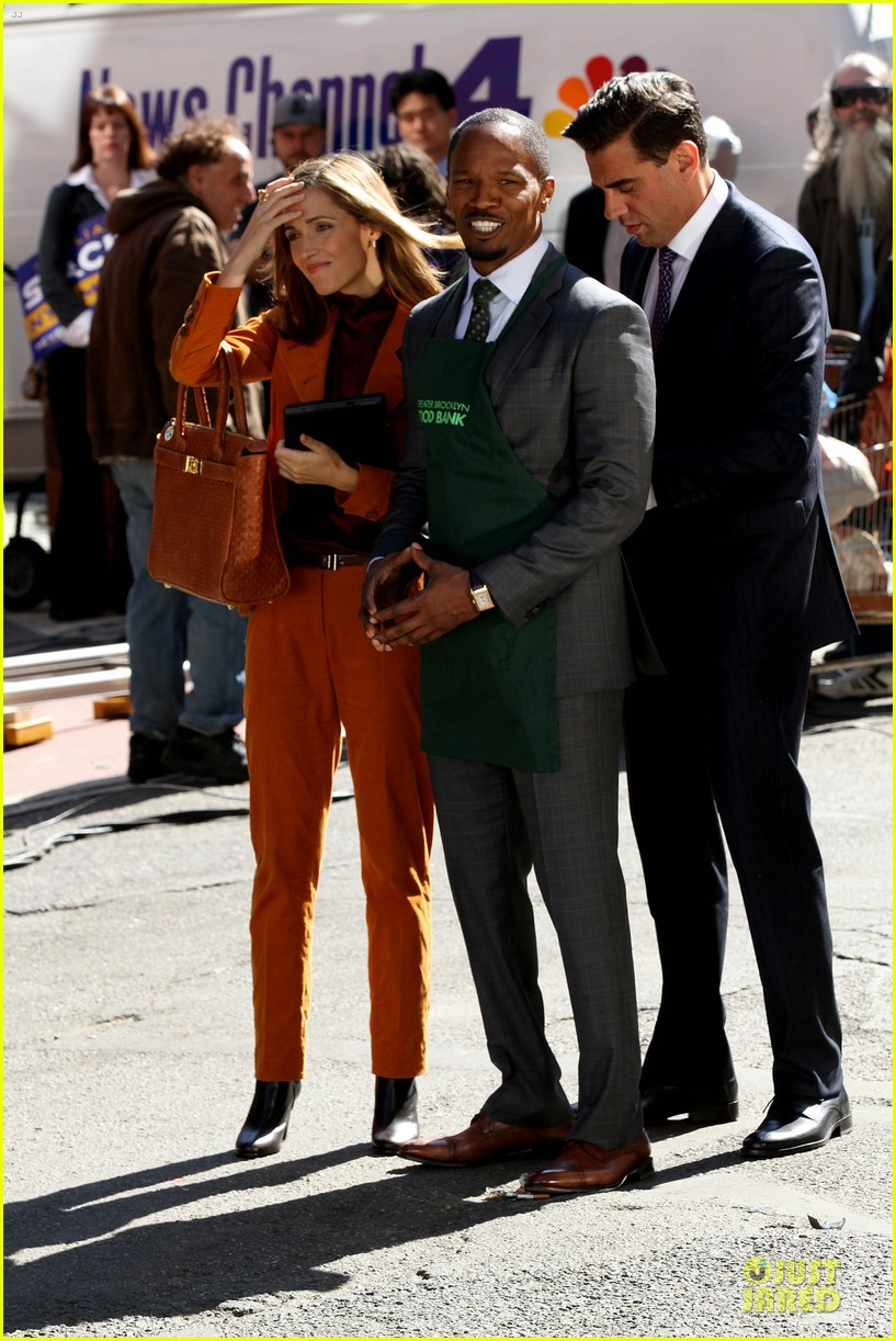rose byrne bobby cannavale annie set with jamie foxx 012964059