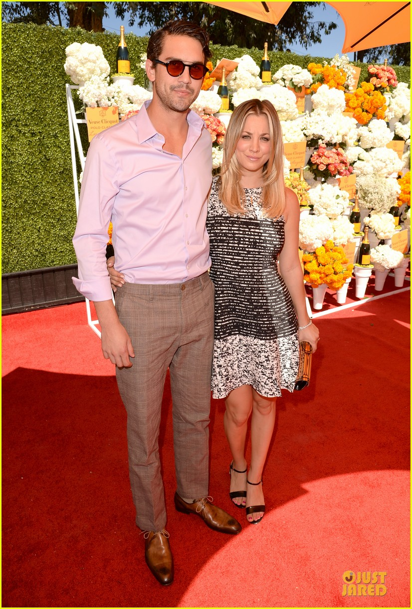 kaley cuoco ryan sweeting veuve clicquot polo classic kiss 032966896