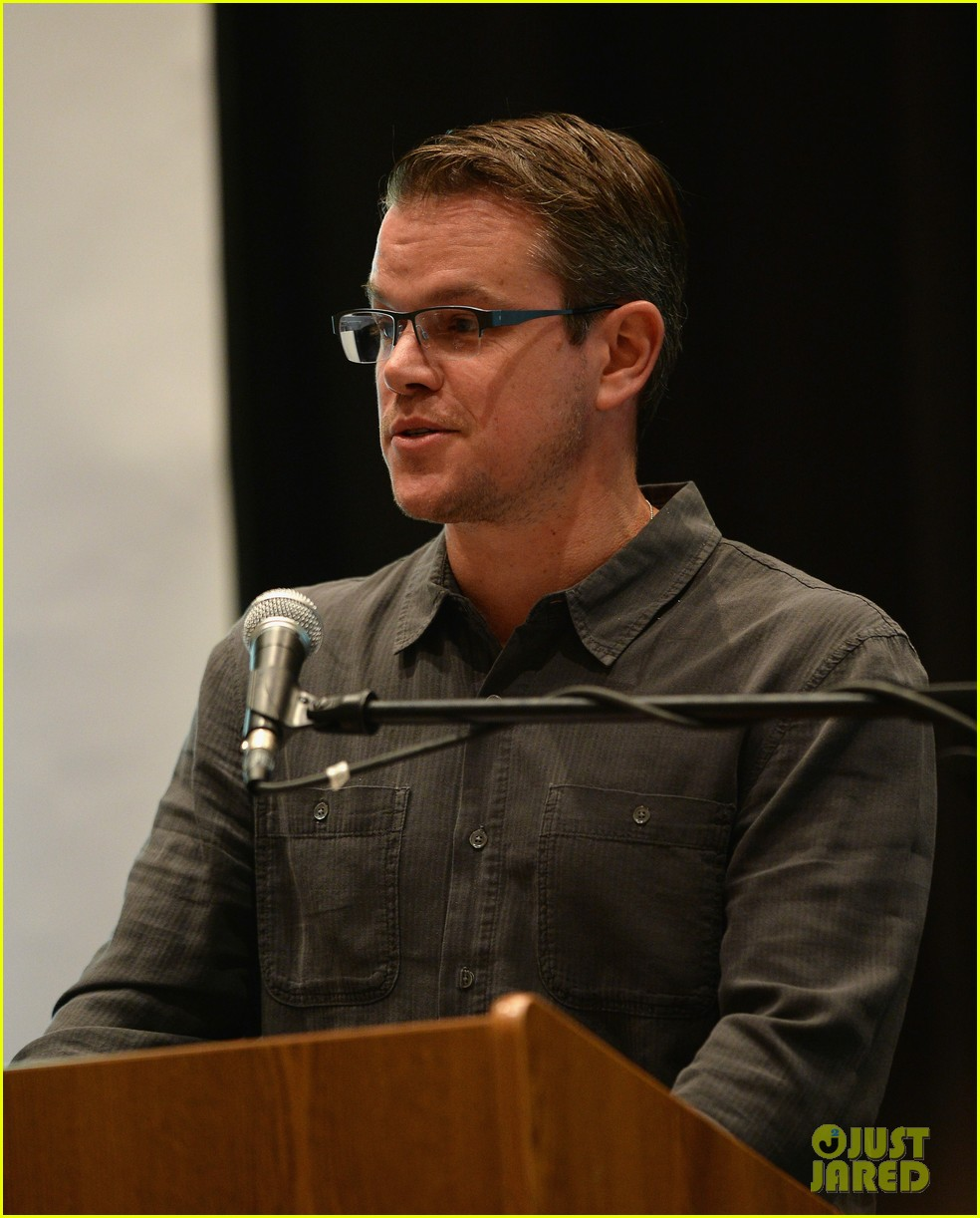 matt damon education on the edge lecture series 01