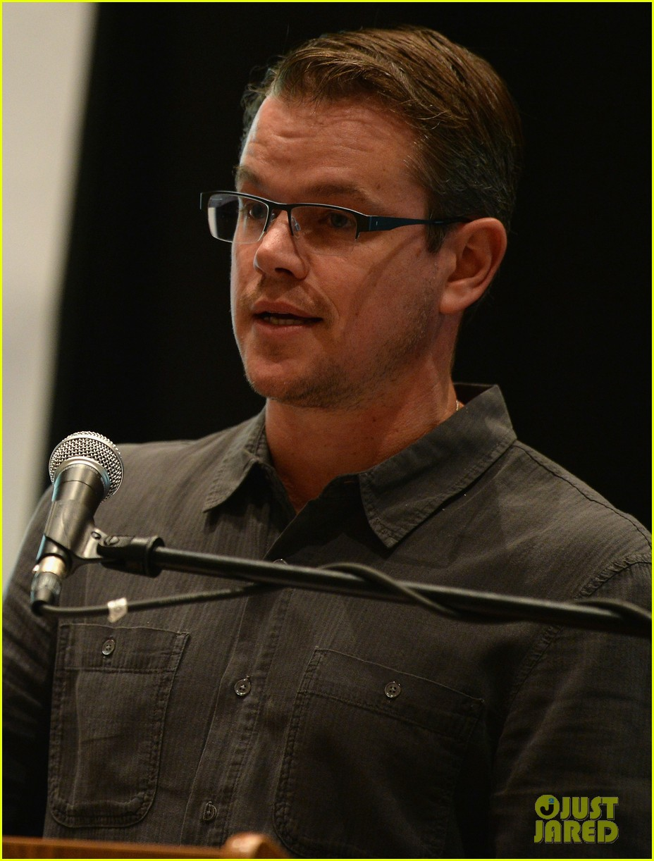matt damon education on the edge lecture series 09