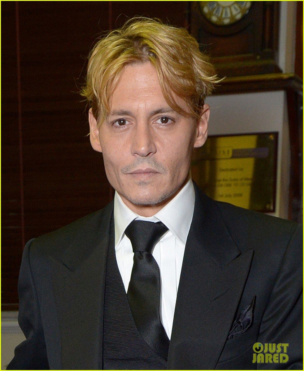 johnny depp goes bleached blonde for bfi film fest awards 02