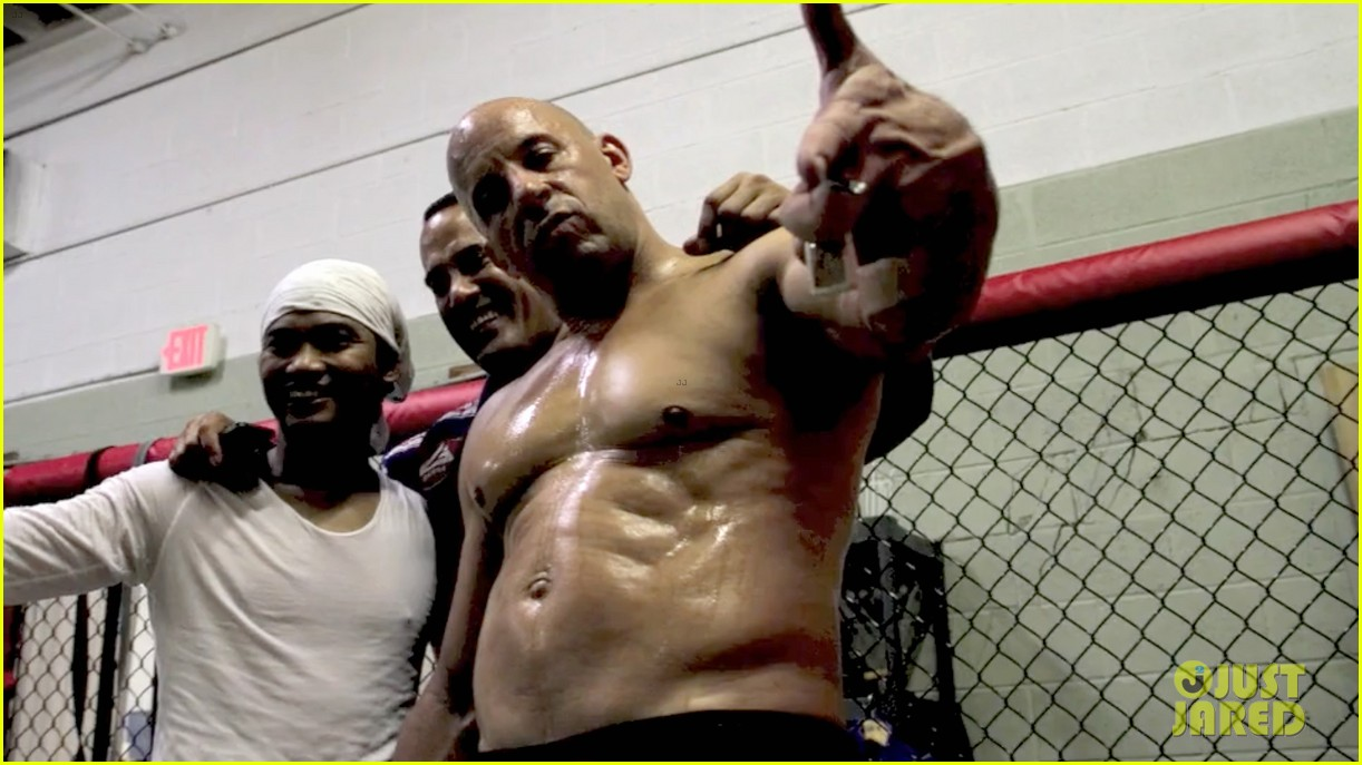 vin diesel flaunts ripped shirtless body for combat training 04