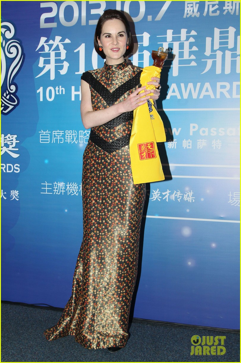 michelle dockery sam worthington huading awards 2013 14