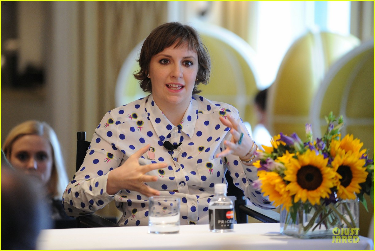 lena dunham milks a cow for
