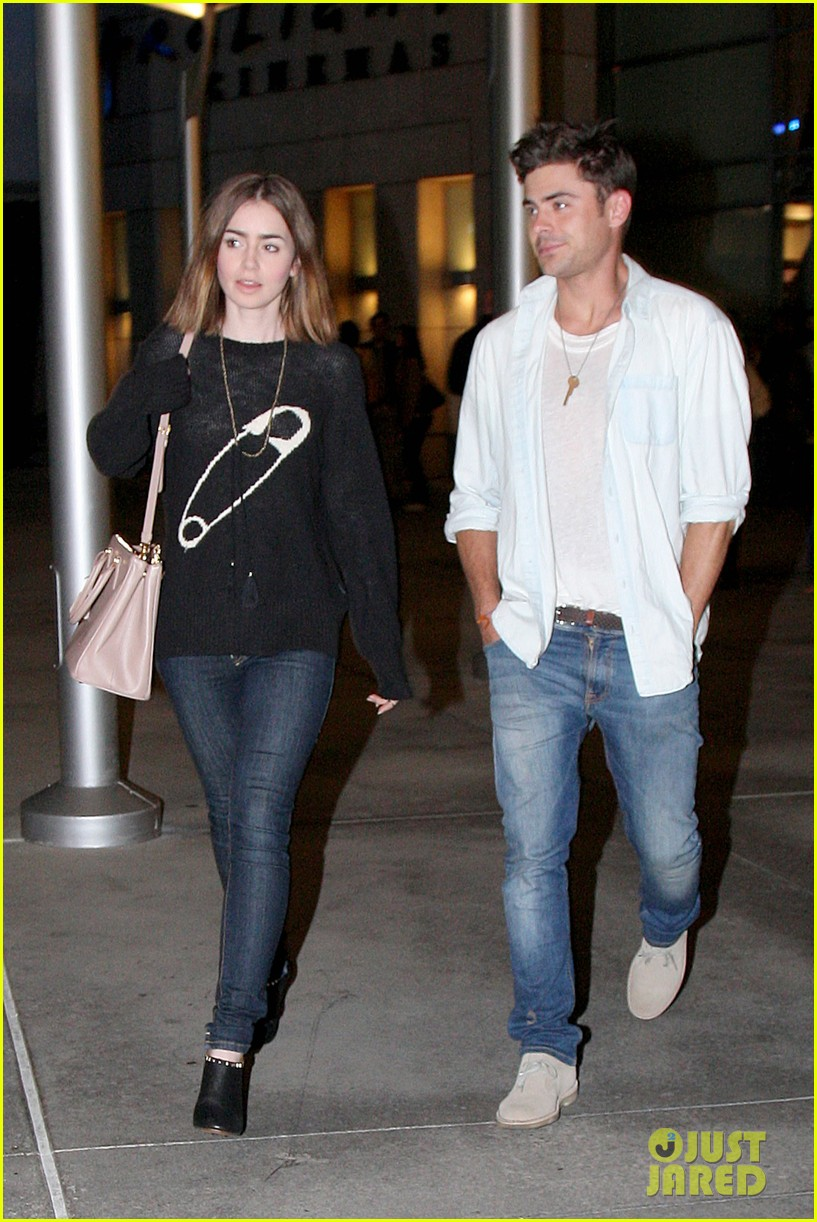 zac efron lily collins movie night out 072971460