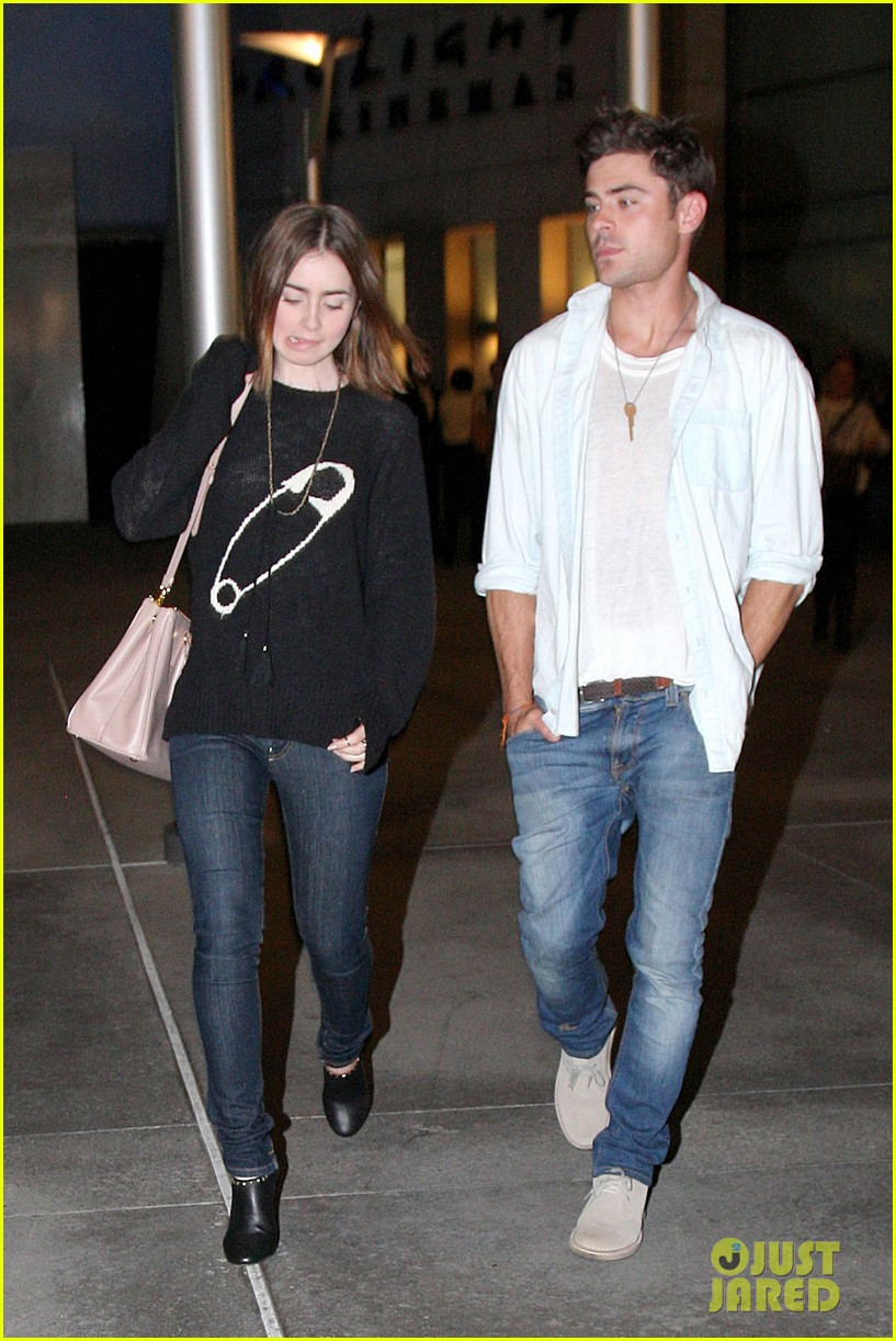 zac efron lily collins movie night out 202971473