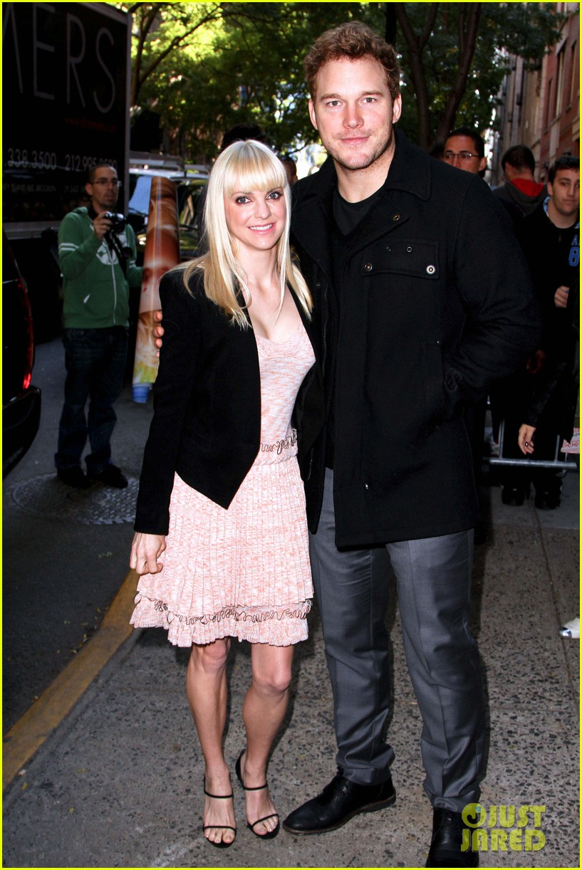anna faris chris pratt do promo together in new york city 092972746