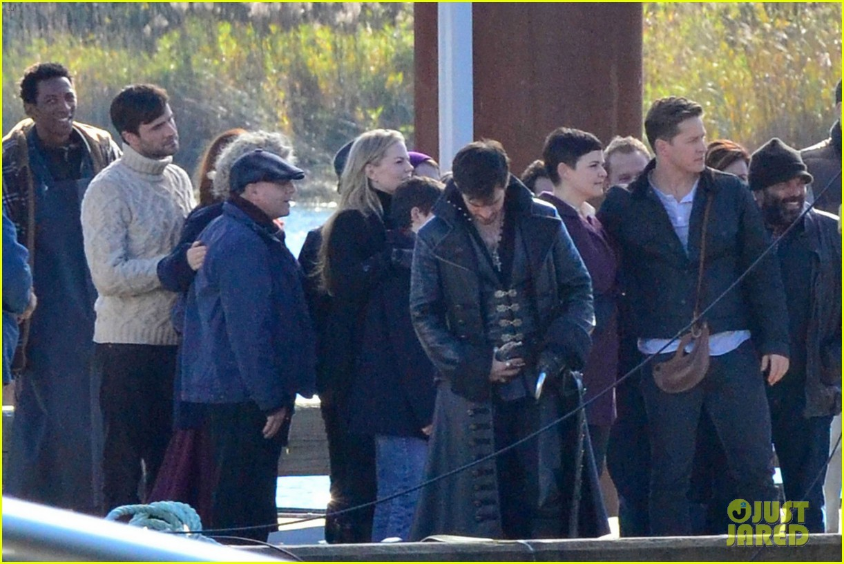 ginnifer goodwin josh dallas share sweet kiss on once set 05