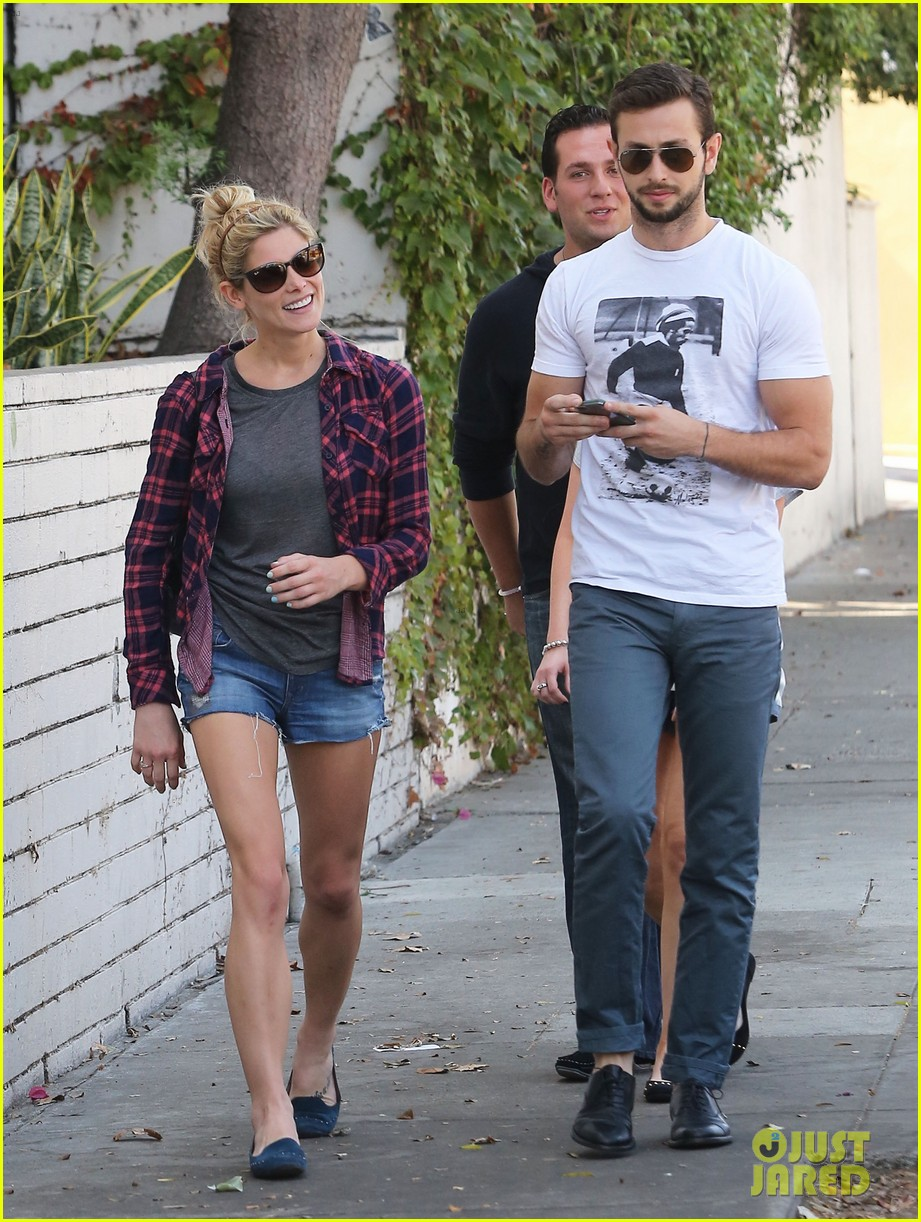 ashley greene paul khoury hang out with friends 04