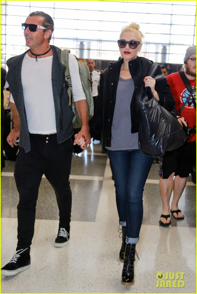 gwen stefani gavin rossdale fly out of los angeles 04