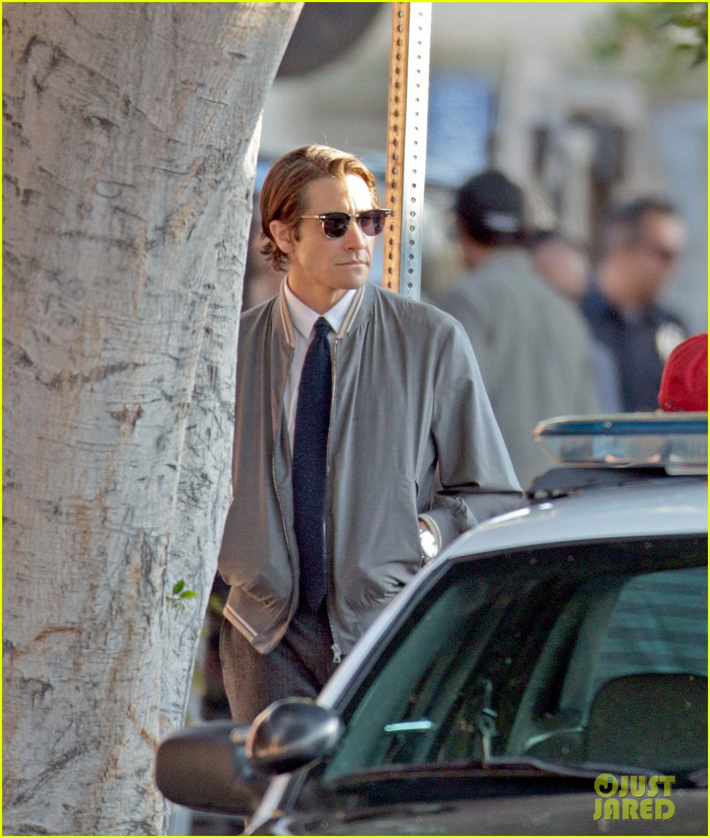 jake gyllenhaal looks slimmed down for nightcrawler shoot 122971612