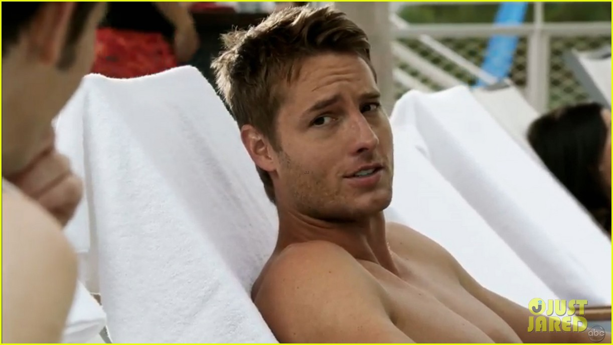 justin hartley goes shirtless revenge stars attend aids walk 02