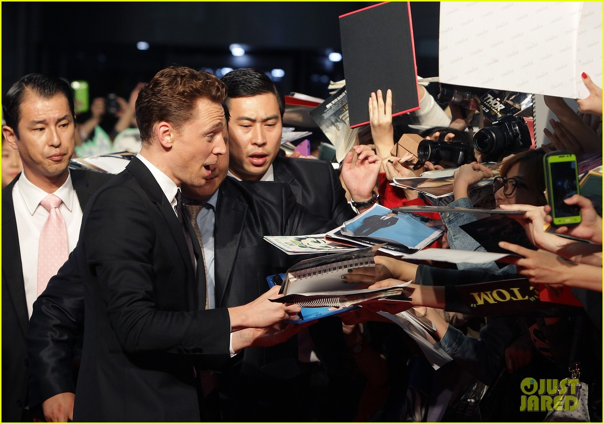 tom hiddleston thor the dark world south korea premiere 28