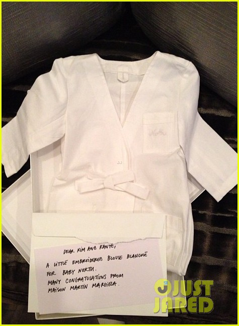 kim kardashian receives custom designer clothes gifts for north west 132963859