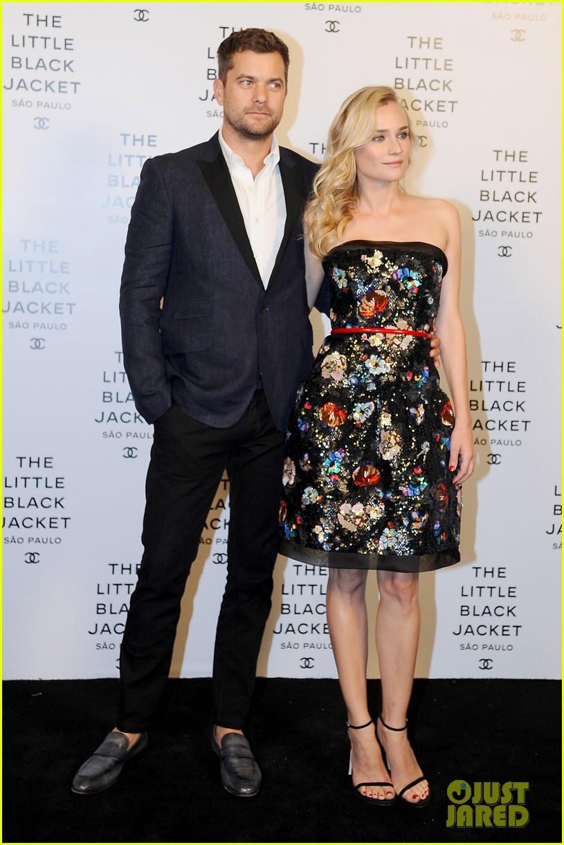 Diane Kruger Joshua Jackson chanel pequeno evento jaqueta preta 02