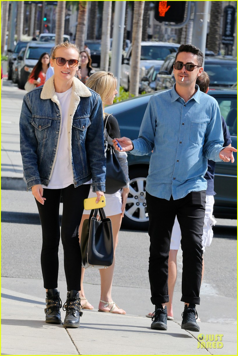 diane kruger prepares for fall with denim jacket 012969809