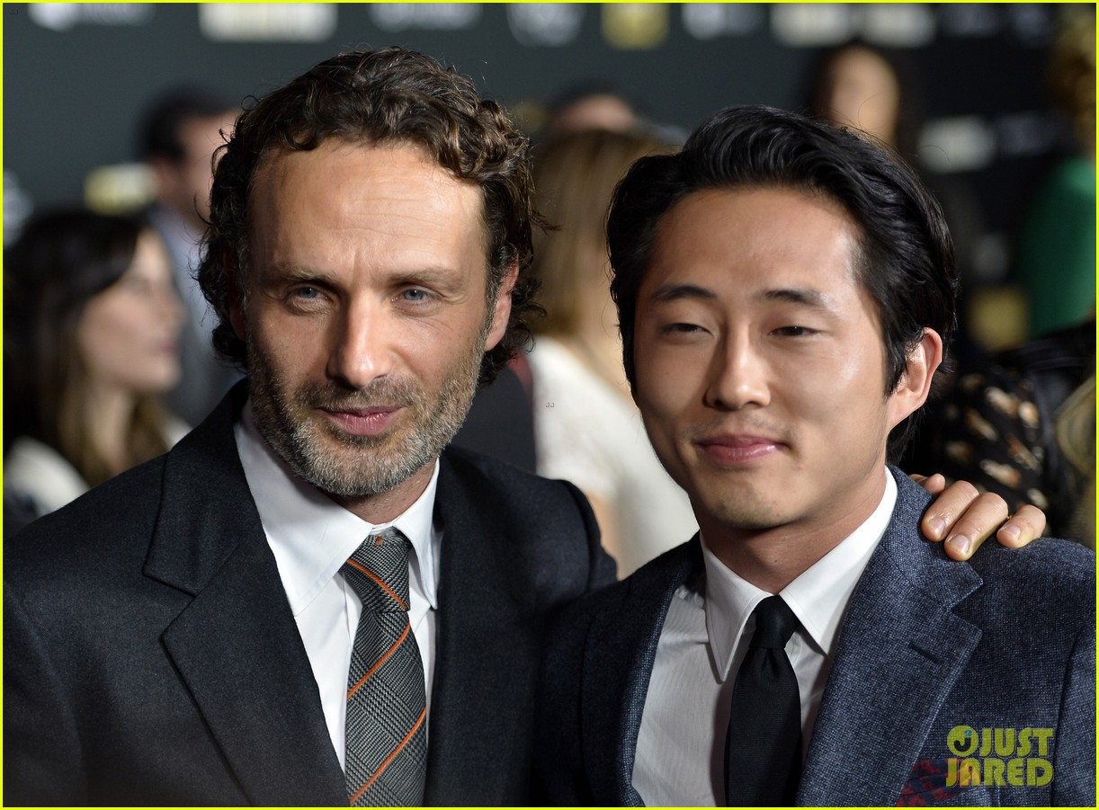 andrew lincoln norman reedus walking dead premiere 17