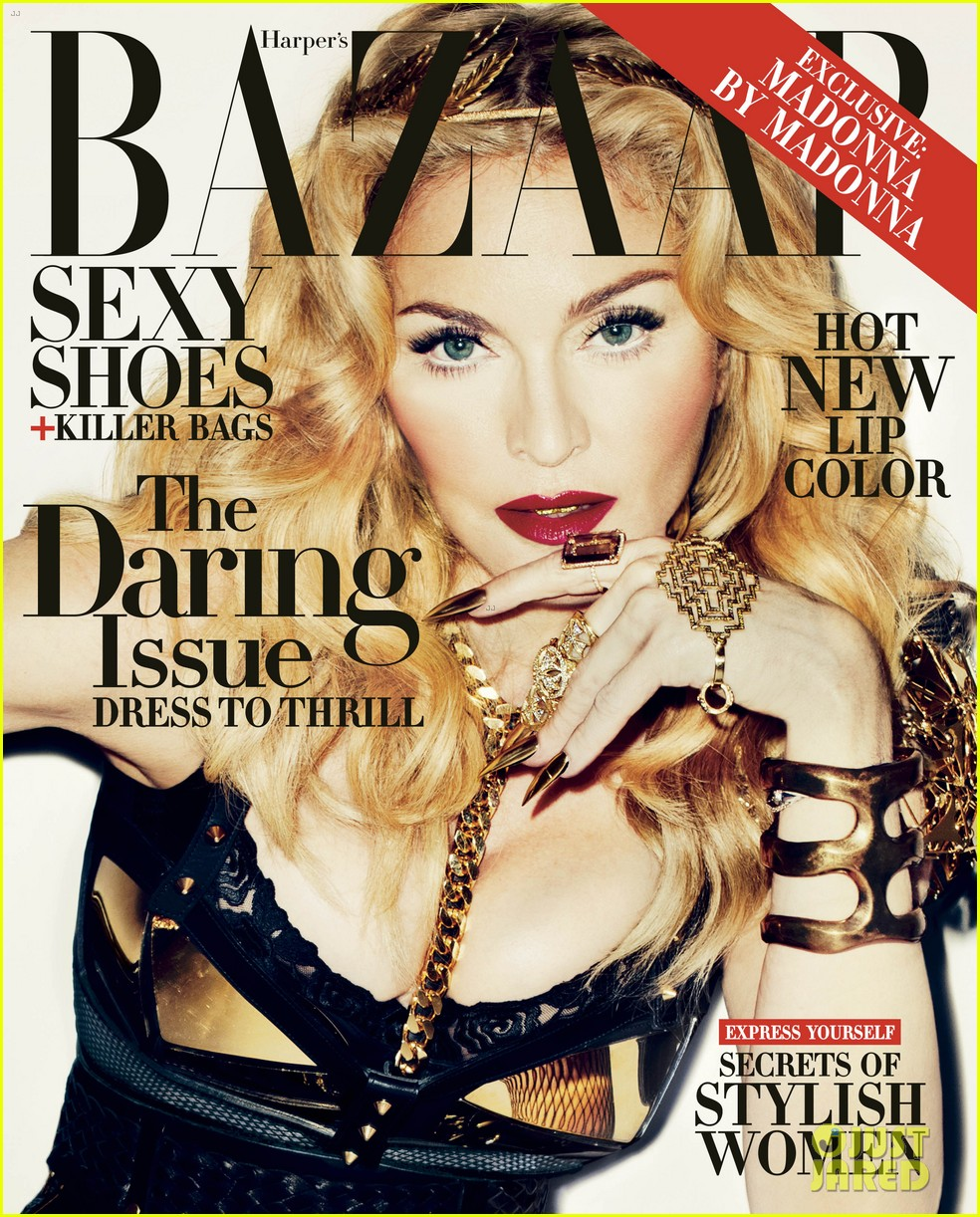 madonna covers harpers bazaar daring issue for november 03