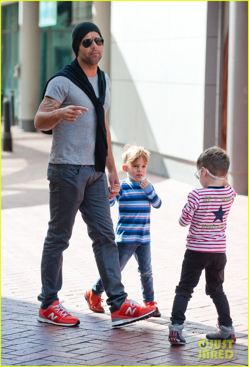 ricky martin spends time with sons during australian tour 052969065