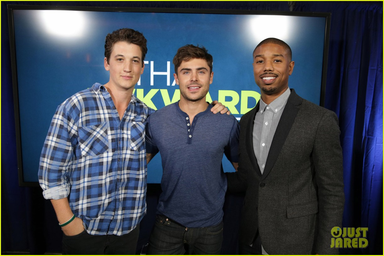 michael b jordan miles teller that awkward moment qa with zac efron 262973166