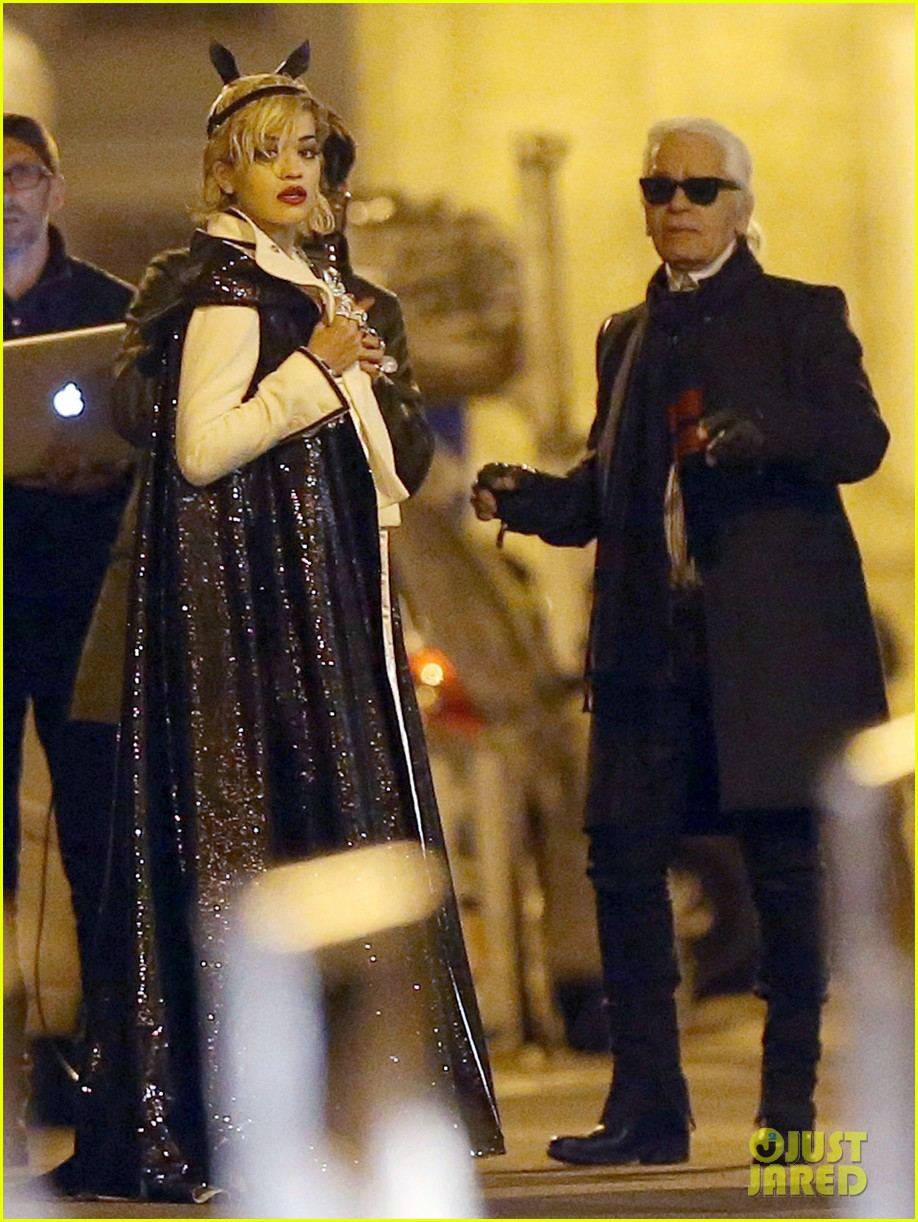 rita ora midnight photo shoot with karl lagerfeld 072971436