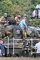 brad pitt shia labeouf continue shooting fury tank scenes 01