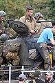 brad pitt shia labeouf continue shooting fury tank scenes 13