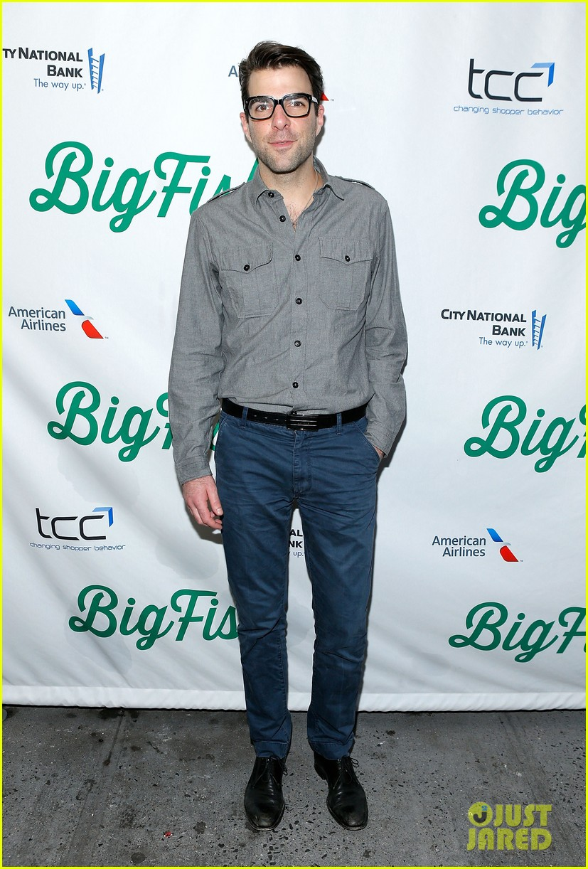 zachary quinto liev schreiber big fish opening night 10