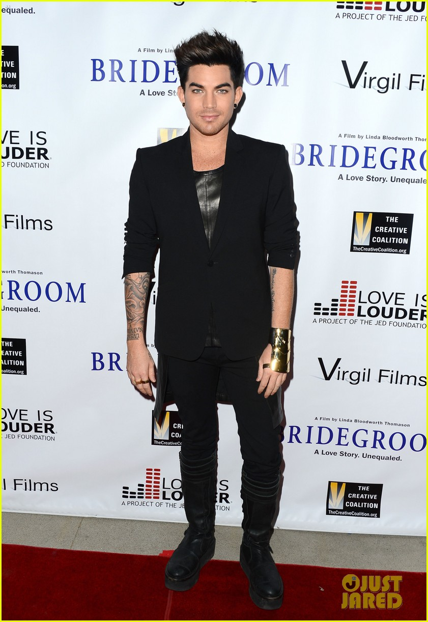 adam lambert nikki reed bridegroom premiere 02