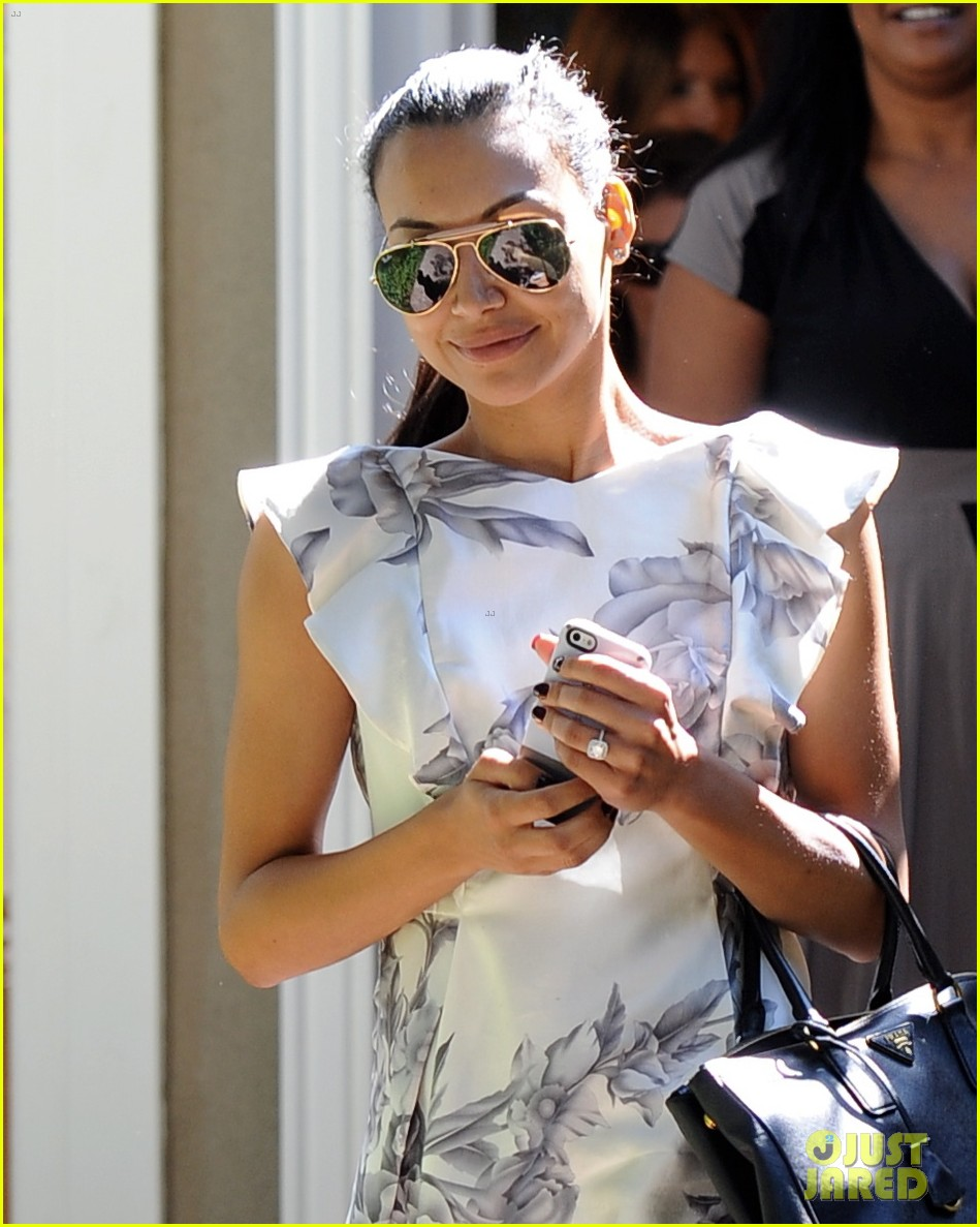naya rivera goes wedding dress shopping with kevin mchale 042970786
