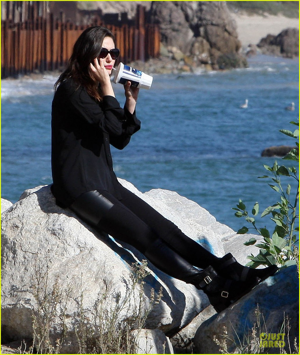 emmy rossum moment of peace at the beach 202969271