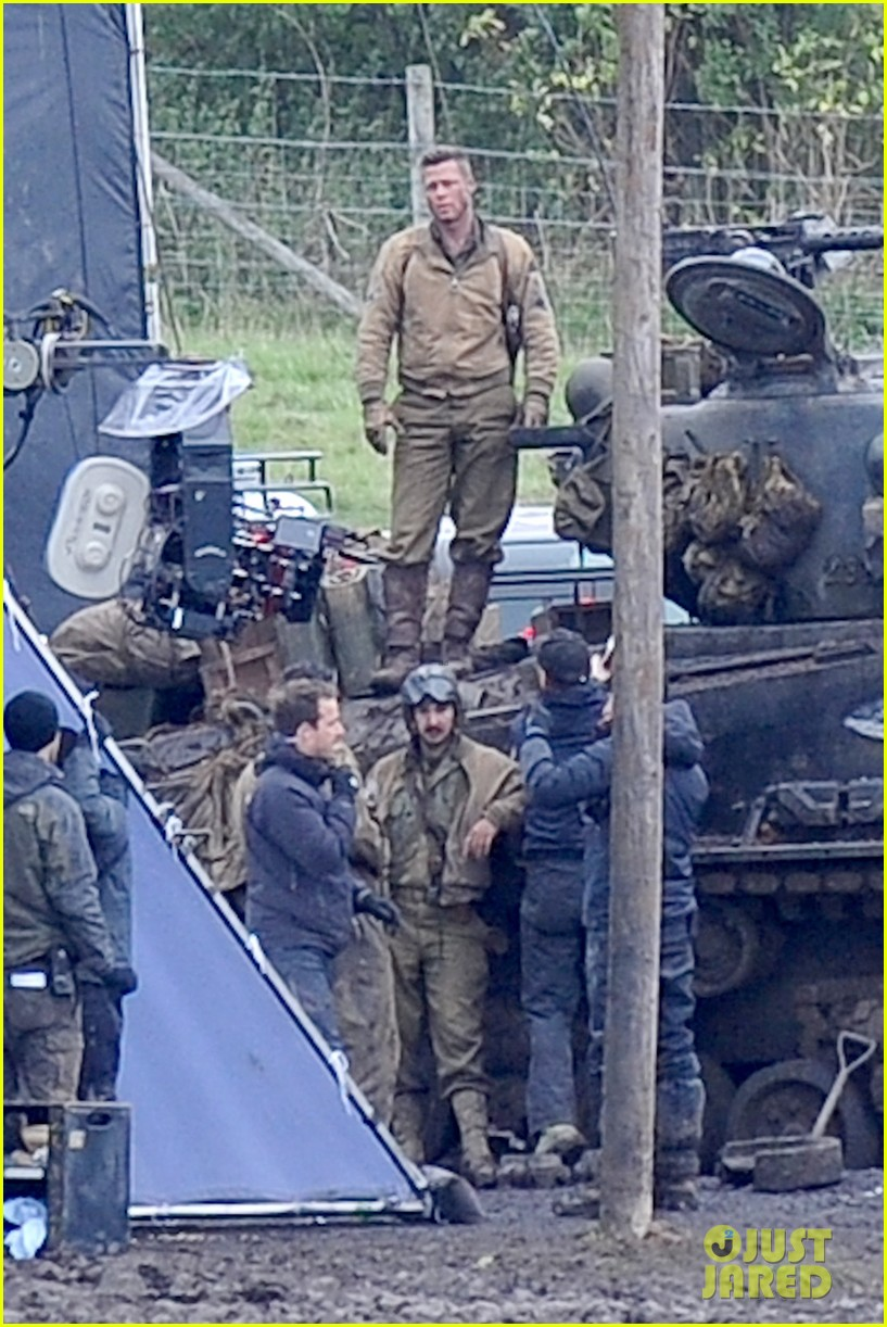 brad pitt shia labeouf continue fury filming 02