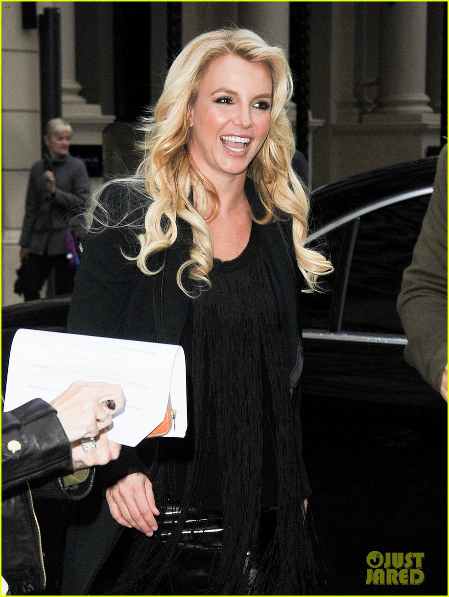 britney spears makes capital fm radio appearance in london 02