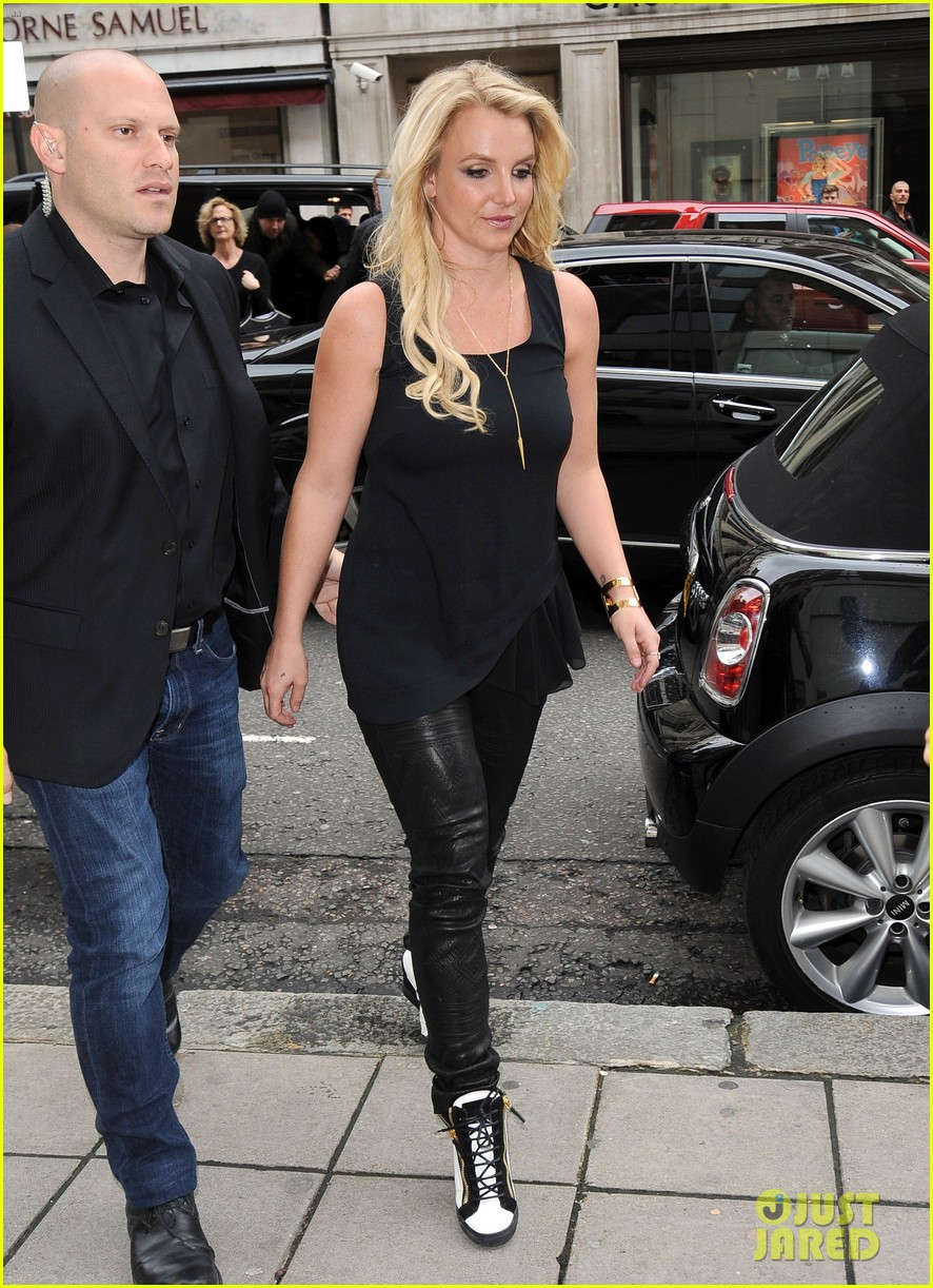 britney spears makes capital fm radio appearance in london 082971623