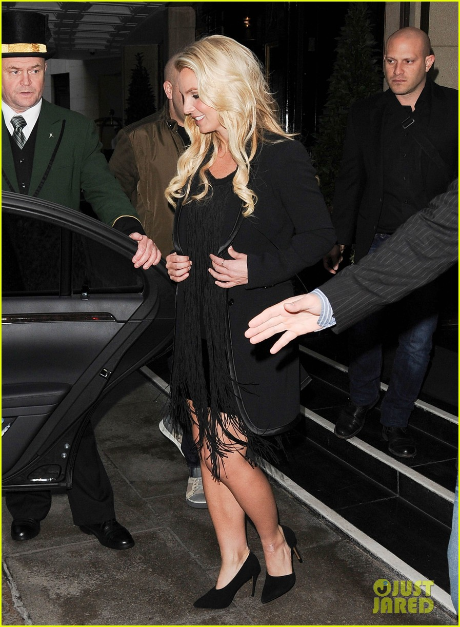 britney spears makes capital fm radio appearance in london 16