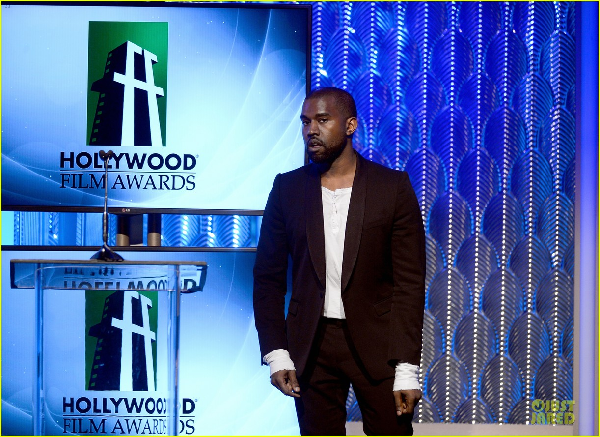 kanye west engagement glow at hollywood film awards 2013 012976847