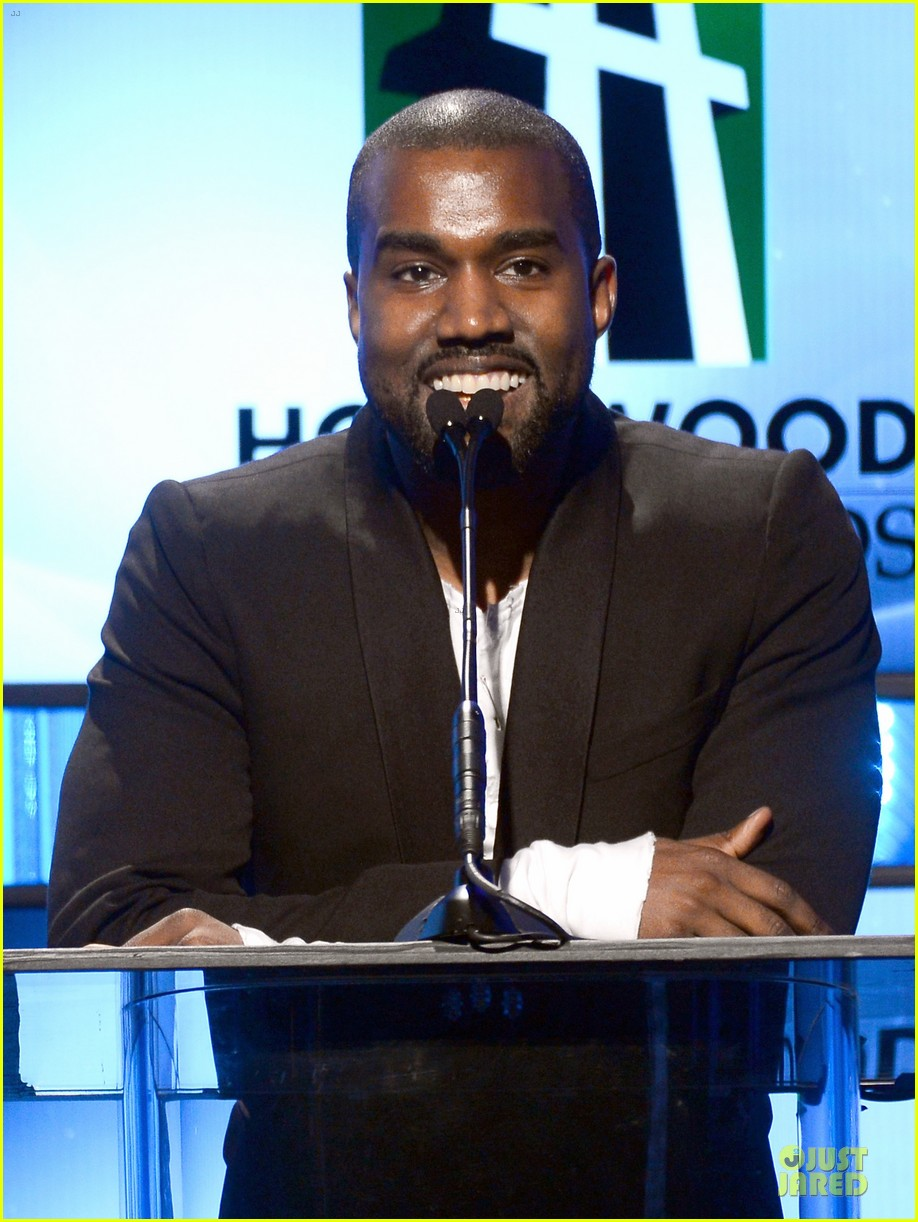 kanye west engagement glow at hollywood film awards 2013 09