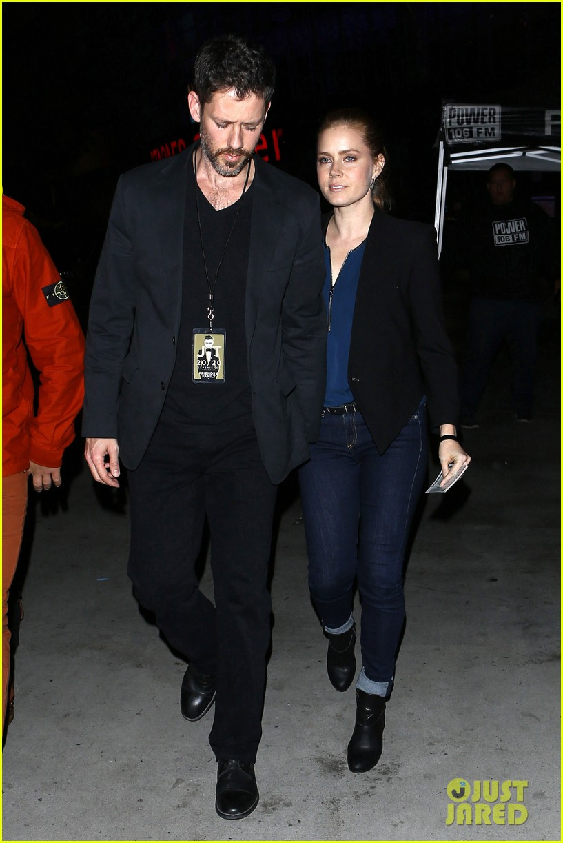 amy adams supports pal justin timberlake at 2020 concert 123001132