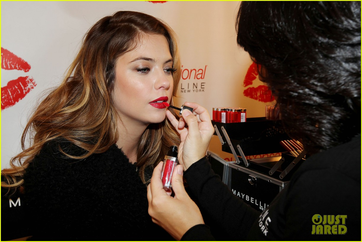 ashley benson kisses for the troops on veterans day 11