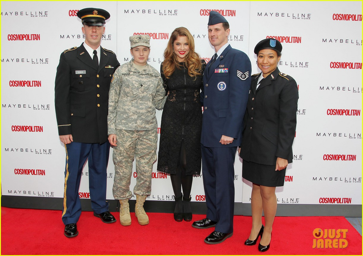 ashley benson kisses for the troops on veterans day 24