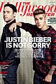 justin bieber scooter braun share the cover for thr 01